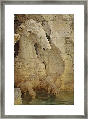 The Horse In The Fountain  Framed Print by JAMART Photography