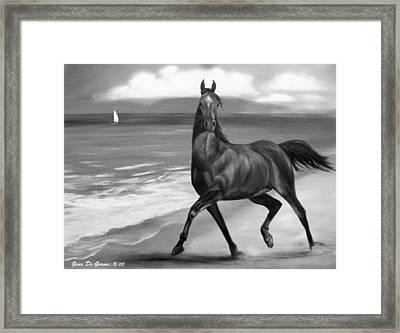 Horses In Paradise  Dance Framed Print