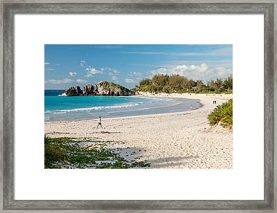 Horseshoe Bay In Bermuda Framed Print