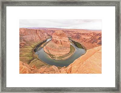 Framed Print featuring the photograph Horseshoe Bend, Arizona by Josef Pittner