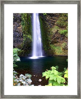 Horsetail Falls Framed Print by Marty Koch