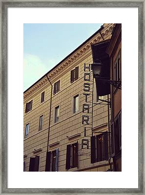 Roma Hostaria Framed Print by JAMART Photography