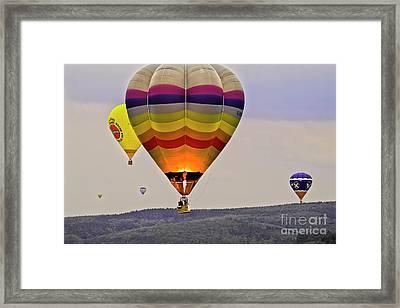 Hot-air Balloning Framed Print by Heiko Koehrer-Wagner