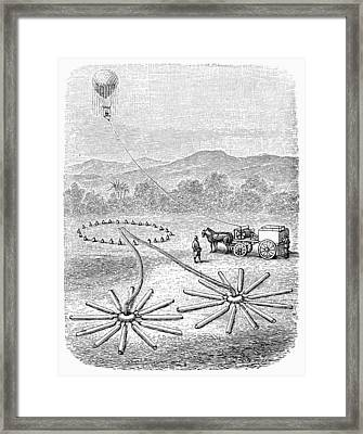 Hot Air Balloon Inflation Framed Print by Granger