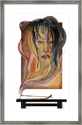 Hot Like Fire Framed Print