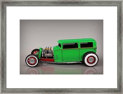 Hot Rod Sedan Framed Print by Ken Morris