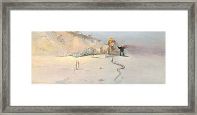 Hot Wind Framed Print by Charles Conder