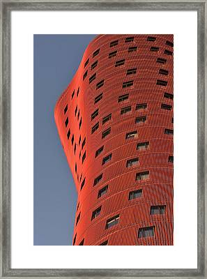 Hotel Porta Fira Barcelona Abstract Framed Print by Marek Stepan