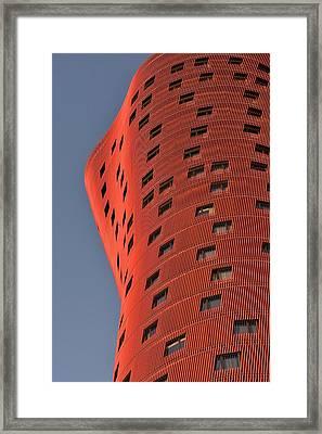Hotel Porta Fira Barcelona Abstract Framed Print