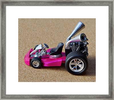 Hotwheels Go Kart Framed Print