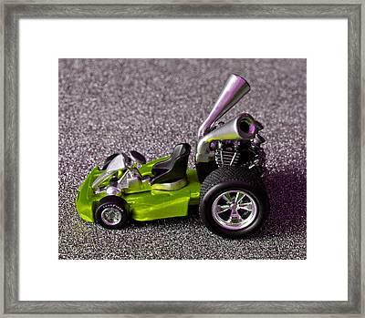 Hotwheels Go Kart Custom Framed Print