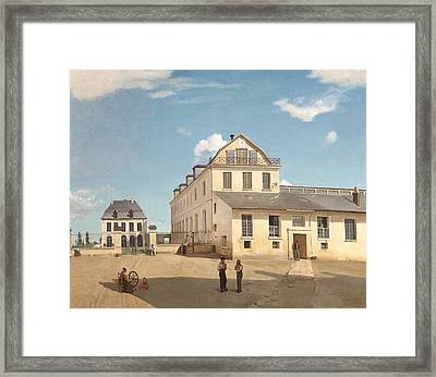 House And Factory Of Monsieur Henry Framed Print by Jean-Baptiste-Camille Corot