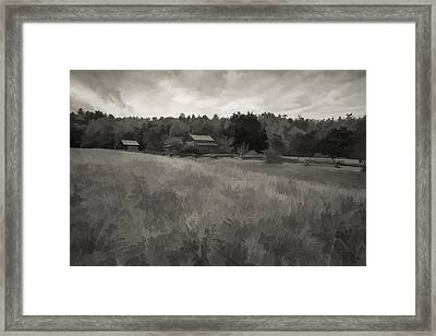 House In Decline  Framed Print by Jon Glaser