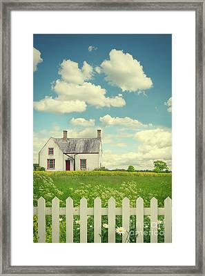 House In The Countryside Framed Print