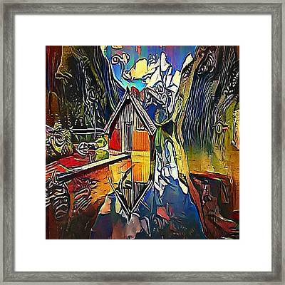 House In The Mountains - My Www Vikinek-art.com Framed Print by Viktor Lebeda