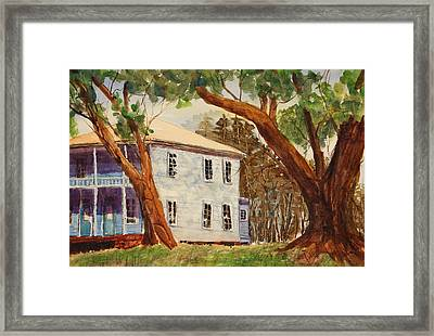 House On Front Street Framed Print by Barry Jones