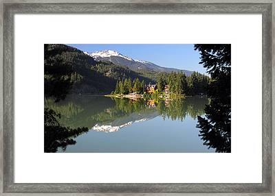 House On Green Lake Whistler B.c Canada Framed Print by Pierre Leclerc Photography