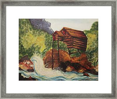 House On Stilts Framed Print by Suzanne  Marie Leclair