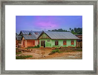 Framed Print featuring the photograph Houses by Charuhas Images