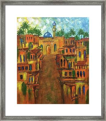 Houses Framed Print by Siran  Ajel