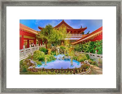 Hsi Lai Temple Framed Print by Joseph Hollingsworth