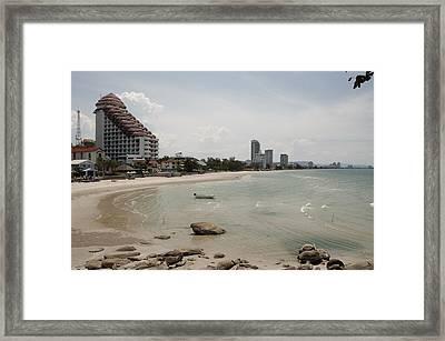 Huahin  Sand Beach Paradase View Framed Print