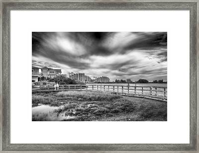 Framed Print featuring the photograph Hudson Beach by Howard Salmon