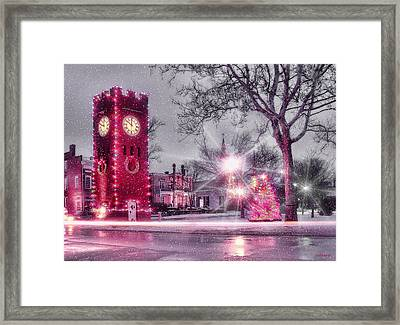 Hudson Holidays Framed Print by Kenneth Krolikowski