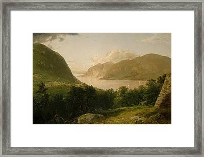Hudson River Scene Framed Print