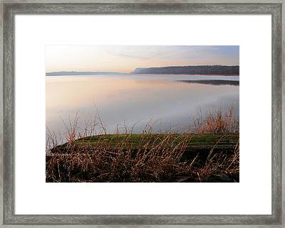 Hudson River Vista Framed Print