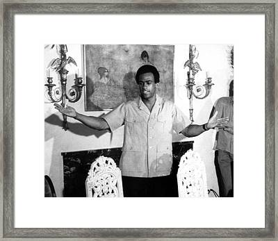 Huey Newton, Black Panther Party Framed Print