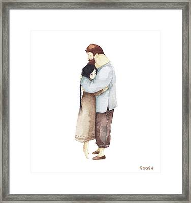 Hug Me Framed Print by Soosh