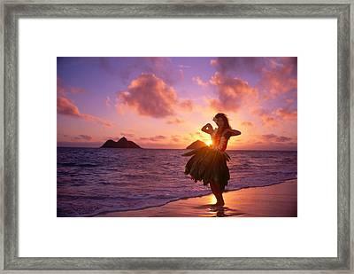 Hula At Sunrise Framed Print by Tomas del Amo - Printscapes