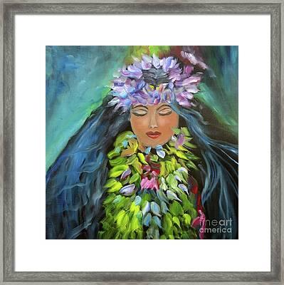 Hula Maiden Framed Print