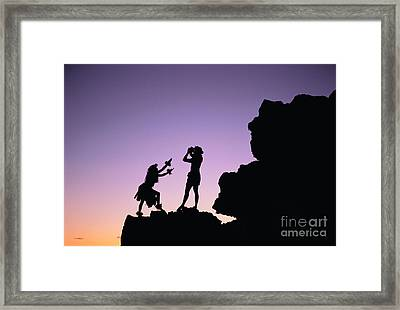 Hula Silhouette Framed Print by William Waterfall - Printscapes