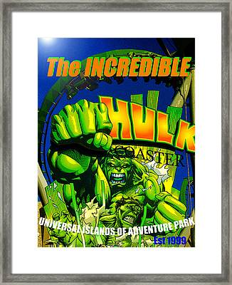 Hulk Coaster 1999 Framed Print by David Lee Thompson