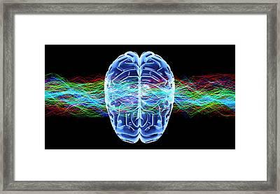 Human Brain, Conceptual Artwork Framed Print by Pasieka