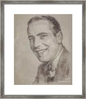 Humphrey Bogart Vintage Hollywood Actor Framed Print by Frank Falcon
