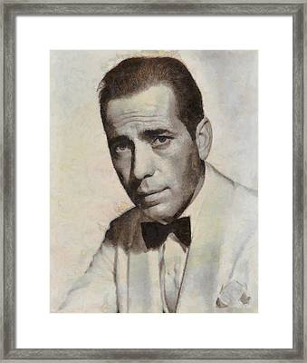 Humphrey Bogart Vintage Hollywood Actor Framed Print by John Springfield