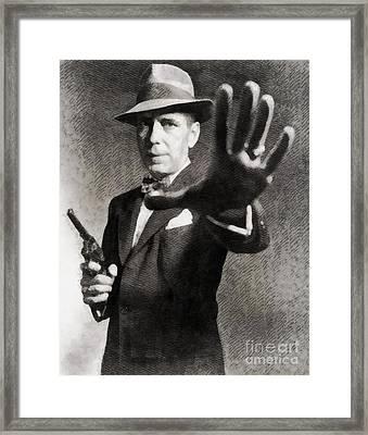 Humphrey Bogart, Vintage Hollywood Legend Framed Print by John Springfield