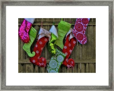 Stockings Hung With Care Framed Print by JAMART Photography