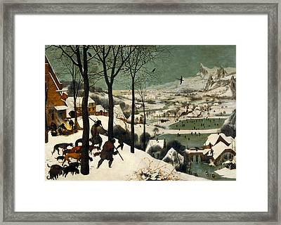 Hunters In The Snow Framed Print