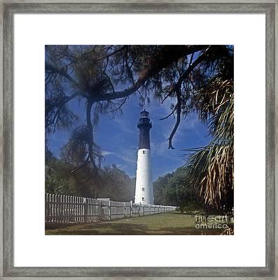 Lh 8-3 Hunting Island Lighthouse Sc Framed Print