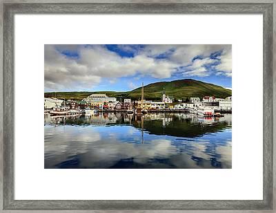 Husavik Harbor Framed Print