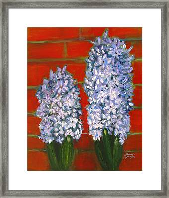 Framed Print featuring the painting Hyacinths by Patricia Januszkiewicz