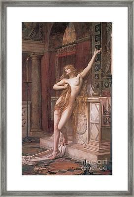 Hypatia Of Alexandria, Mathematician Framed Print