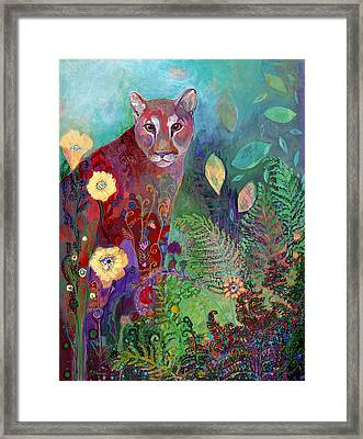 I Am The Forest Path Framed Print