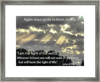 I Am The Light  Framed Print