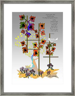 I Saw Fall Today Framed Print by Gary Kennedy
