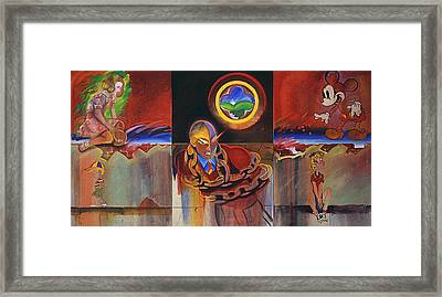 I Saw The Figure Five In Gold Framed Print by Charles Stuart